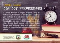 CONVITE: Sessão Solene em homenagem aos professores, dia 29